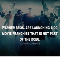 WB be like are you all confused? Wait to hear this brilliant idea. I don't know man they should've announced and explained all of this shit back in Comic con , this could possibly hurt the DCEU if they are actually gonna continue with the DCEU I mean how are you gonna explain to the general audience that this movie is part of the DCEU or not ? Also what's the purpose of the separate universe is it just that they want to milk the fucking cow ? Is it all just about the money and they don't actually give a shit about consistency and to build the DCEU in a right manner? This is to much to handle.: WARNER BROS, ARE LAUNCHING A DC  MOVIE FRANCHISE THAT IS NOT PART  OF THE DCEU.  DC NATION UNIVERSE WB be like are you all confused? Wait to hear this brilliant idea. I don't know man they should've announced and explained all of this shit back in Comic con , this could possibly hurt the DCEU if they are actually gonna continue with the DCEU I mean how are you gonna explain to the general audience that this movie is part of the DCEU or not ? Also what's the purpose of the separate universe is it just that they want to milk the fucking cow ? Is it all just about the money and they don't actually give a shit about consistency and to build the DCEU in a right manner? This is to much to handle.