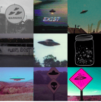 kin-galaxy:  Grunge alienkin and vintage UFO blog-themed moodboard for @ufo-the-truth-is-out-there !: WARNING  EXIST kin-galaxy:  Grunge alienkin and vintage UFO blog-themed moodboard for @ufo-the-truth-is-out-there !