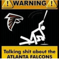 Falcons: WARNING N  Talking shit about the  ATLANTA FALCONS