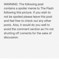 Ass, Meme, and Shazam: WARNING: The following post  contains a spoiler meme to The Flash  following this picture. If you wish to  not be spoiled please leave this post  and feel free to check out any other  posts. Also, it would do you well to  avoid the comment section as I'm not  shutting off coments for the sake of  discussion. Black Flash should be fisting Savitar as we speak. I wonder why the Time Wraiths ain't on that ass either 🤔 -Shazam ⚡️