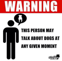 And the problem is?: WARNING  THIS PERSON MAY  TALK ABOUT DOGS AT  ANY GIVEN MOMENT  RESCUE And the problem is?