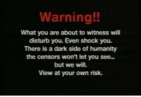 Dark Side Of: Warning!!  What you are about to witness will  disturb you. Even shock you.  There is a dark side of humanity  the censors won't let you see...  but we will.  View at your own risk.