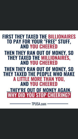 Warping an anti Nazi poem to complain about taxing the rich...: Warping an anti Nazi poem to complain about taxing the rich...