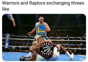 Warriors vs Raptors Game 2 in a nutshell.: Warriors and Raptors exchanging threes  like  COLD  PTOS  RAP  Willian HILL Warriors vs Raptors Game 2 in a nutshell.