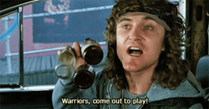 Warriors, Play, and  Come: Warriors, come out to play!