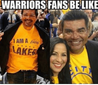 Memes, 🤖, and Ham: WARRIORS FANS BE LIKE  HAM A  LAKES #RockoMamba24 #WWLG4L