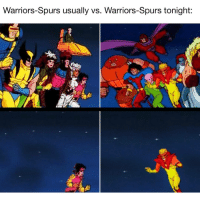 Memes, 🤖, and Parker: Warriors-Spurs usually vs. Warriors-Spurs tonight. Steph, KD, Klay, Draymond, Iguodala, Kawhi, LMA, and Parker all OUT tonight. Yup.