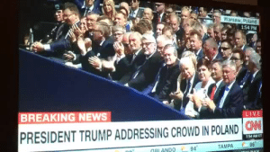 Confederate Flag, News, and Tumblr: Warsaw, Poland  1:54 PM  BREAKING NEWS  LIVE  PRESIDENT TRUMP ADDRESSING CROWD IN POLAND N  54 AM ET  94  TAMPA 96  RIANDO bobbybxtchs: thatpettyblackgirl:  They know exactly what that flag represents.   https://www.huffingtonpost.com/entry/confederate-flag-europe-trump-poland_us_5968a317e4b017418626ab5e   Uh