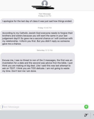 Was going through a bunch of old photos on my iCloud and came across this lovely gem. Happened about 4 years ago after some guy in a Kinesiology class I took asked for my number so I could help him with his bio class.: Was going through a bunch of old photos on my iCloud and came across this lovely gem. Happened about 4 years ago after some guy in a Kinesiology class I took asked for my number so I could help him with his bio class.