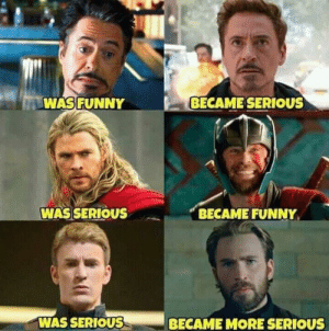 Literally 25 of the funniest marvel memes of 2019: WASFUNNY  BECAME SERIOUS  WAS SERIOUS  BECAME FUNNY  WAS SERIOUSS  BECAME MORE SERIOUS Literally 25 of the funniest marvel memes of 2019