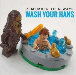 Wash your Hans. You don't know where he's been.: Wash your Hans. You don't know where he's been.