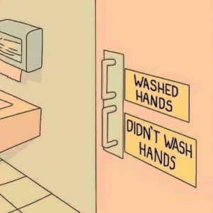 Modern, Society, and  Hands: WASHED  HANDS  DIDN'T WASH  HANDS Modern society