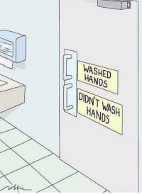 Funny, Via, and Href: WASHED  IL HANDS  DIDNT WASH  HANDS This should be mandatory via /r/funny https://ift.tt/2QNxHrf