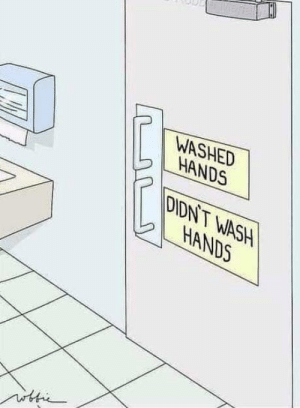 This, Mandatory, and  Hands: WASHED  IL HANDS  DIDNT WASH  HANDS This should be mandatory