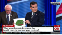 """<p>TED CRUZ V BERNIE SANDERS MEMES SOARING BUY!!! BUY!!! BUY!!! via /r/MemeEconomy <a href=""""http://ift.tt/2kkCFrV"""">http://ift.tt/2kkCFrV</a></p>: Washington  9:28 PM ET  QUESTION  What would you do to ensure that  health care consumers have choices?  LIVE  CNN  6:28 PM PT  CN DEBATE NIGHT: THE FUTURE OF OBAMACARE  <p>TED CRUZ V BERNIE SANDERS MEMES SOARING BUY!!! BUY!!! BUY!!! via /r/MemeEconomy <a href=""""http://ift.tt/2kkCFrV"""">http://ift.tt/2kkCFrV</a></p>"""