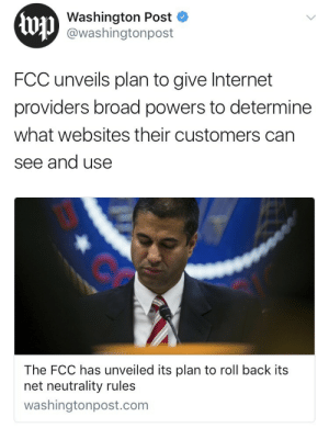 Internet, News, and Phone: Washington Post  @washingtonpost  FCC unveils plan to give Internet  providers broad powers to determine  what websites their customers can  see and use  The FCC has unveiled its plan to roll back its  net neutrality rules  washingtonpost.com datmodernsynthesis: systlin:  weavemama:  systlin:   weavemama:  IF YOU ARE READING THIS, CHANCES ARE YOU GO ON THE INTERNET EVERYDAY. THE FCC IS NOW PLANNING ON REPEALING NET NEUTRALITY. THIS MEANS THAT POPULAR WEBSITES WILL RUN SLOWLY UNTIL YOU PAY AN EXTRA FEE. WE WOULD NO LONGER HAVE THE PRIVILEGE OF USING WEBSITES AND RESEARCHING FOR FREE.  TEXT 'RESIST' AT 50409 AND TELL YOUR SENATORS THAT NET NEUTRALITY NEEDS TO STAY.  Seriously. Resistbot is great. Text it. It lets you write a letter it then faxes to the offices of your congresspeople and senators. If you keep getting told that 'messages are full' when you try to call on the phone, try Resistbot.  Also, if you have anxiety about speaking to people on the phone, Resistbot requires no human interaction. You write a letter via text, resistbot does the rest.    I just did mine!!! It took less than 3 minutes. seriously guys, taking 3-5 minutes out of your day to contact your senator or congressman for FREE can help save the internet.   It's so easy, you guys, seriously.   PLEASE YALL