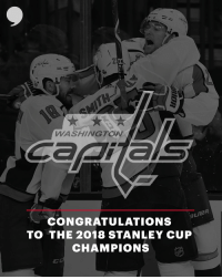 Way to go, Caps! https://t.co/J609wxgNO0: WASHINGTON  UER  CONGRATULATIONS  TO THE 2018 STANLEY CUP  CHAMPIONS Way to go, Caps! https://t.co/J609wxgNO0