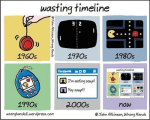Wasting Timeline: wasting timeline  32  1970s  1980s  1960s  wasting timeline  facebook  Pm eating soup!  Yay soup!  000  now  2000s  1990s  now  wronghands1.wordpress.com  John Atkinson, Wrong Hands  OTohn Atkinson, Wrong Hands Wasting Timeline