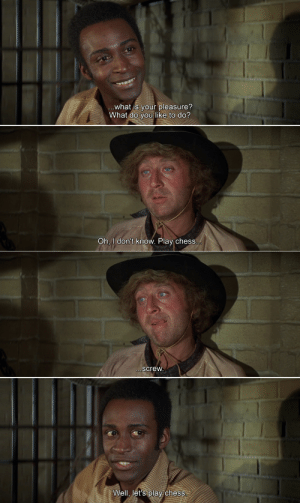"Watch ""Blazing Saddles"" for the first time and this scene gave me a good laugh: Watch ""Blazing Saddles"" for the first time and this scene gave me a good laugh"