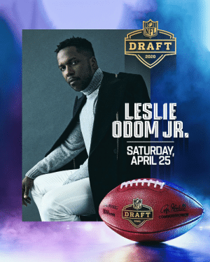 Watch Leslie Odom Jr. perform to close out the 2020 Draft! Tune in on Saturday, April 25 at 12pm ET to watch his performance! @nflnetwork @espn @abcnetwork #NFLDraft @leslieodomjr https://t.co/fzmRJ08XhX: Watch Leslie Odom Jr. perform to close out the 2020 Draft! Tune in on Saturday, April 25 at 12pm ET to watch his performance! @nflnetwork @espn @abcnetwork #NFLDraft @leslieodomjr https://t.co/fzmRJ08XhX
