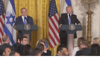Memes, Benjamin Netanyahu, and 🤖: WATCH LIVE: President Donald Trump and Benjamin Netanyahu, Prime Minister of Israel, hold a joint press conference - likely to offer insight into future US foreign policy in the middle east.   It comes as questions remain over the Trump adiministrations dealings with Russia.