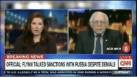 "cnn.com, Fake, and Memes: WATCH NOW ON  BREAKING NEWS  LIVE  E TO us. ILLEGALLY AS A TEEN, WAS ARRESTED IN 2008 DURING A WORKPL OUTFRONT Unplugged Him Quick: BernieSanders Gets Feed Cut Off After Calling CNN ""Fake News""! 👀 Watch Now On WorldStarHipHop.com & The WorldStar App! (Posted by @JoeWorldstar) @CNN CNN WSHH"