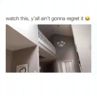 Memes, Omg, and Regret: Watch this, y'all ain't gonna regret it omg sound on 😂😂 (@hilarious.ted - @thebasicbitchlife)