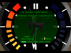 "Watch, GoldenEye, and Beta: WATCH V2.01 BETA  MISSION STATUS: INCOMPLETE  ABORT  CARCEL  CONFIRM  DSK  B00  DEUTSCHE Anyone else used to call the Goldeneye D5K a ""douche""?"