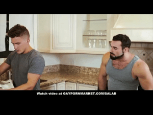 Event kitchen hunk by wife the guy straight fucking in caught consider
