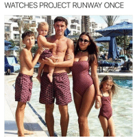 This is what I think every suburban mom does after watching Project Runway and thinks they can be s fashion designer.: WATCHES PROJECT RUNWAY ONCE  ouvegotnomale This is what I think every suburban mom does after watching Project Runway and thinks they can be s fashion designer.