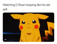 He going off🔥: Watching D Rose hooping like his old  self..  GIF He going off🔥