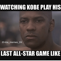 It's sad to see a legend play his last All-Star game! nbamemes nba_memes_24 kobebryant legend allstarweekend denzelwashington lakers: WATCHING KOBE PLAY HIS  nba memes 24  LAST ALL-STAR GAME LIKE It's sad to see a legend play his last All-Star game! nbamemes nba_memes_24 kobebryant legend allstarweekend denzelwashington lakers