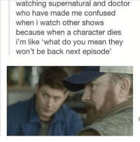 """I'm currently listening to """"Stairway to Heaven"""" by Led Zeppelin. Dean would be proud 🙌🏻🙌🏻🙌🏻 - spn spncw spnfans spnfan spnfamily spnfandom supernatural supernaturalcw supernaturalfans supernaturalfan supernaturalfamily supernaturalfandom destiel destielforever j2 brothers winchester akf yana lyf superwholock superwho doctorwho tumblr deanwinchester jensenackles bobbysinger jimbeaver thedoctor: watching supernatural and doctor  who have made me confused  when i watch other shows  because when a character dies  i'm like 'what do you mean they  won't be back next episode I'm currently listening to """"Stairway to Heaven"""" by Led Zeppelin. Dean would be proud 🙌🏻🙌🏻🙌🏻 - spn spncw spnfans spnfan spnfamily spnfandom supernatural supernaturalcw supernaturalfans supernaturalfan supernaturalfamily supernaturalfandom destiel destielforever j2 brothers winchester akf yana lyf superwholock superwho doctorwho tumblr deanwinchester jensenackles bobbysinger jimbeaver thedoctor"""