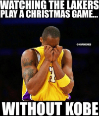 Nba, Not Crying, and Kobe: WATCHING THE LAKERS  PLAY A CHRISTMAS GAME..  @NBAMEMES  WITHOUT KOBE I'm not crying, you're crying.