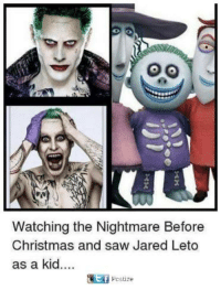 Jared Leto: Watching the Nightmare Before  Christmas and saw Jared Leto  as a kid  cstize