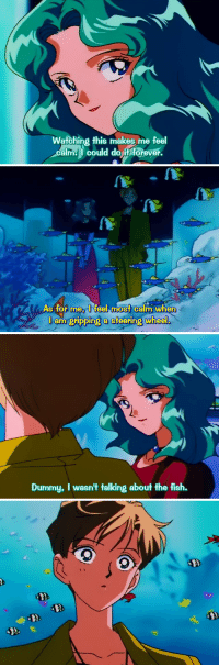 Sailor Moon, Target, and Tumblr: Watching this makes me feel  calm could do it forever.   As for meI feel most calm when  J am gripping a steering wheel   Dummy, I wasn't talking about the fish. outer-senshi:  Sailor Moon Sailor Stars, Episode 167: A Nightmare Scatters the Flowers! Return of the Dark Queen