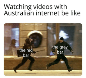 Be Like, Internet, and Netflix: Watching videos with  Australian internet be like  9000000maghost  the grey  the red  bar  bar ThE bLOody KAnGaRoO Is on NeTFliX