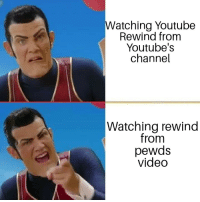 Just Do It, youtube.com, and Video: Watching Youtube  Rewind from  Youtube's  channel  Watching rewind  from  pewds  video