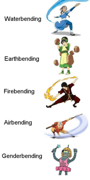 Power, Bender, and How: Waterbending  Earthbending  Firebending  Airbending  Genderbending  THE  GENDER  BENDER How can I learn this power