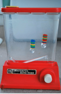 The mobile gaming device of the 90s: WATERFUL  RING TOSS The mobile gaming device of the 90s