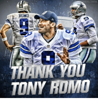 Tony Romo is expected to be released tommorow - Thank you for everything 9. I wish you luck wherever your journey takes you. The tears are coming out.. I'm gonna miss this guy. TonyRomo: WBOYS CENTRAL  COWBOYS  ROMO  THANK YOU  TONY ROMO Tony Romo is expected to be released tommorow - Thank you for everything 9. I wish you luck wherever your journey takes you. The tears are coming out.. I'm gonna miss this guy. TonyRomo