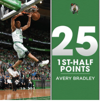 Memes, Bank, and Game: WCelti  on  Celti  st Convenient Bank  The Bankoftheeoston Celti  1ST-HALF  POINTS  AVERY BRADLEY Avery Bradley scored more points in the first HALF than he's ever scored in any previous playoff GAME.