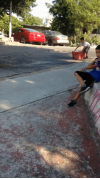 Wcgw, Down, and Play: WCGW if I slide down this hill in a bucket?