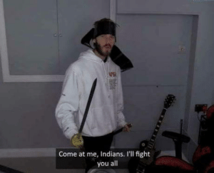 Alexander the great at the battle of Hydapses River (326 BC, colorized): WE  0  Come at me, Indians. I'll fight  you all Alexander the great at the battle of Hydapses River (326 BC, colorized)