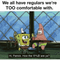I'll text you later, Patrick. I got some shit to tell you about 😳🤘🏼 BaristaLife •.Tag your best customer friends {📸: @Server_Life}: We all have requlars we're  TOO comfortable with.  UEEZE  Hi, Patrick. How the @%$! are ya? I'll text you later, Patrick. I got some shit to tell you about 😳🤘🏼 BaristaLife •.Tag your best customer friends {📸: @Server_Life}