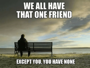 Except You: WE ALL HAVE  THAT ONE FRIEND  EXCEPT YOU, YOU HAVE NONE