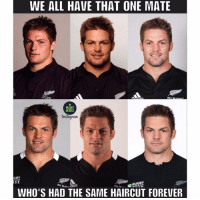 Haircut, Memes, and World Cup: WE ALL HAVE THAT ONE MATE  ALL  RUGBY  MEMES  Instagnam  GBY  O CUP  RUGBY  WORLD CUP  WHO'S HAD THE SAME HAIRCUT FOREVER There's always one 😂😂✌🏽 rugby richiemccaw