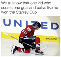 Tag that kid 😤: We all know that one kid who  scores one goal and cellys like he  won the Stanley Cup  UNE D  Bau  @nhl_ref_logic  tr Tag that kid 😤
