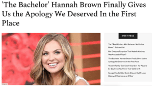 """We all know what typically happens when a celebrity is caught saying the n-word: they give us a half-assed, perfunctory apology most likely written by their publicist. And that's exactly what The Bachelorette star Hannah Brown did a few weeks ago after she sang along to DaBaby's """"Rockstar"""" on Instagram Live.But it seems that Brown has had a change of heart amidst all the racial unrest and decided to take to Instagram to give an 18-minute, heartfelt apology.Read it Here: We all know what typically happens when a celebrity is caught saying the n-word: they give us a half-assed, perfunctory apology most likely written by their publicist. And that's exactly what The Bachelorette star Hannah Brown did a few weeks ago after she sang along to DaBaby's """"Rockstar"""" on Instagram Live.But it seems that Brown has had a change of heart amidst all the racial unrest and decided to take to Instagram to give an 18-minute, heartfelt apology.Read it Here"""