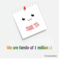 Memes, 🤖, and Hey Guys: We are family of 1 million  fb/passionandlove Hey guys, Just saying THANK YOU for getting this page to 1 million followers :)